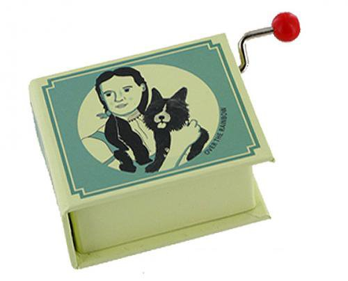 H. Arlen 18-note hand crank musical box in the shape of a book The Wizard of Oz Over the Rainbow