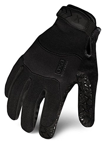 Ironclad Box Gloves Handler - Ironclad EXOT-GBLK-02-S Tactical Operator Grip Glove, Stealth Black, Small