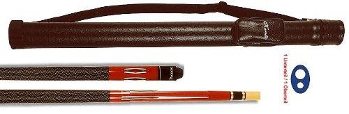 Top-Angebot!!! Billardqueue Tycoon, TC-1 rot, Länge ca. 147 cm, 2-tlg. + Köcher Karella 1/1 schwarz
