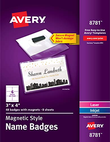 (Avery Magnetic Badges Name and Badge Label, 3