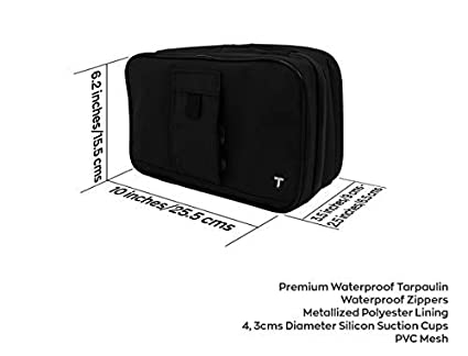 12c1f481d726 Amazon.com  Compact Hanging Toiletry Bag w Built-in 4 Suction Cups ...