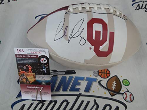 Lincoln Riley signed Oklahoma OU Sooners logo football JSA COA