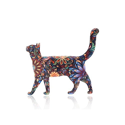 - MISSU JEWELLRY Individuality Animals Acrylic Brooch Pin Colorful Unisex Dress Decorations Brooch Jewelry (Cat)