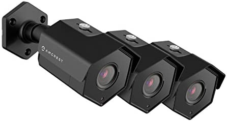 3-Pack Amcrest ProHD Outdoor 1080P POE Bullet IP Security Camera – IP67 Weatherproof, 1080P 1920 TVL , IP2M-852E Black