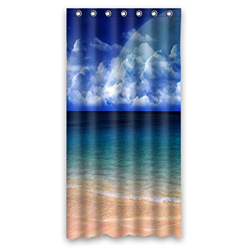 FMSHPON Fashion Blue Seashore Waterproof Fabric Shower Curtain 36x72 Inches (Shower Curtain Up)