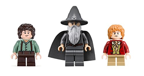 Lego Frodo, Gandalf, and Bilbo Minifigures Lego Lord of the Rings Hobbit