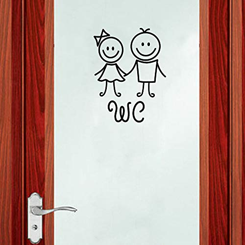 Euone Wall Sticker Clearance , Removable Cute Decals Man Woman Children Washroom Toilet WC Sticker Family DIY Decor