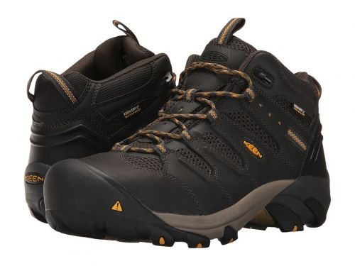 Keen Utility(キーン) メンズ 男性用 シューズ 靴 スニーカー 運動靴 Lansing Mid WaterproofRaven/Tawny Olive [並行輸入品] B07C8FXB67 10.5 D Medium