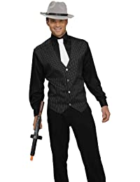 Men's Gangster Shirt, Vest And Tie Costume