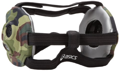 ASICS Unrestrained Wrestling Ear Guard (Camo), One Size (Headgear Ear Foam Guard)