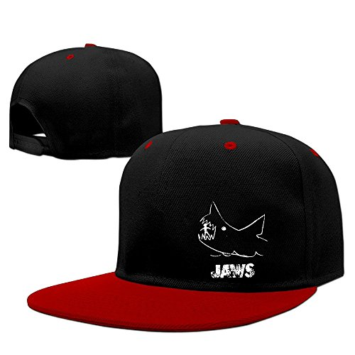 Custom Slim Fit Adult Jaws Shark Poster Sporting Cap Hat Red (Galaxy S5 Case Jaws)