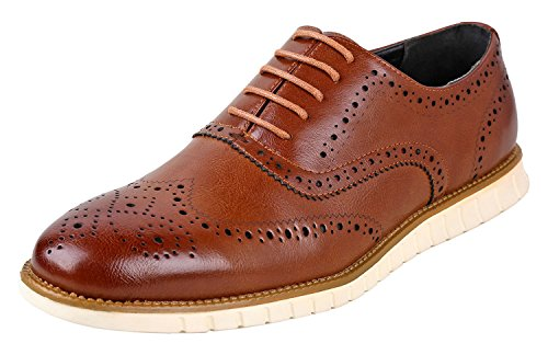 Urban Fox Men's Oliver Oxford Dress Shoes   Comfortable I Formal   Lace-Up   Classic Design   Light Brown7 Fits as 6 M US