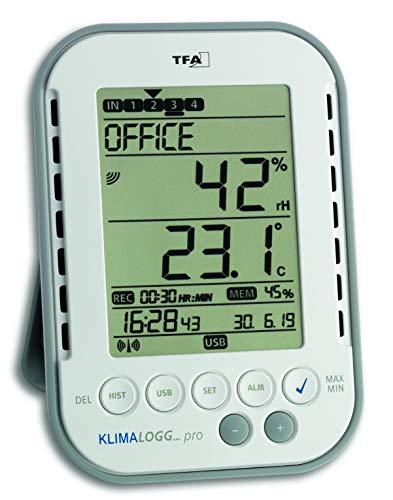 TFA 303039 HygroLoggPro - Termómetro / hidrógrafo profesional con sistema de registro de datos