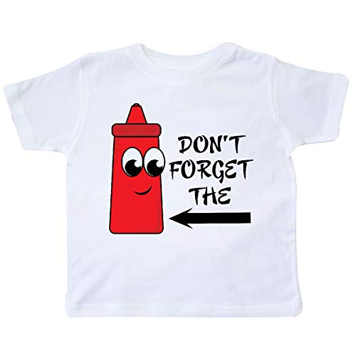 5610fb41 inktastic - Don't Forget The Ketchup Toddler T-Shirt 5/6 White 39f9 ...