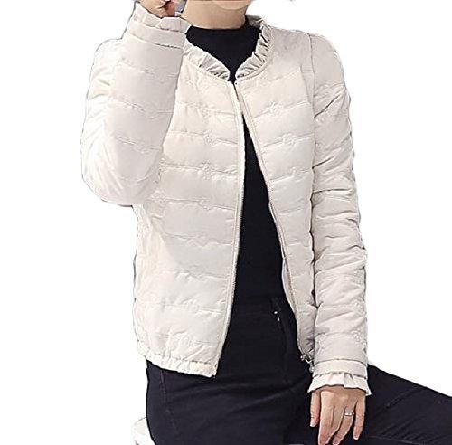 Di Colore Giacca Di Sottile Base Modo Femminile Againg Bianco Cotone Corta Sottile Puro Piumino ntHWwqt8TB
