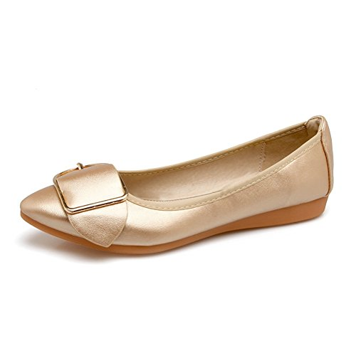 Pictures of Meeshine Women's Pointed Ballet Flats Soft 2