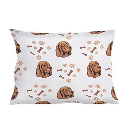 Personalized Pillow Case Sussex Spaniel Dog Breed Style B Polyester Pillow Cover 20INx28IN Design Only Set of - Two Light Bath Sussex