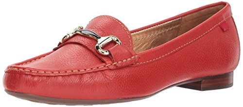 - MARC JOSEPH NEW YORK Womens Leather Grand Street Loafer Driving Style, red Grainy, 7 B(M) US