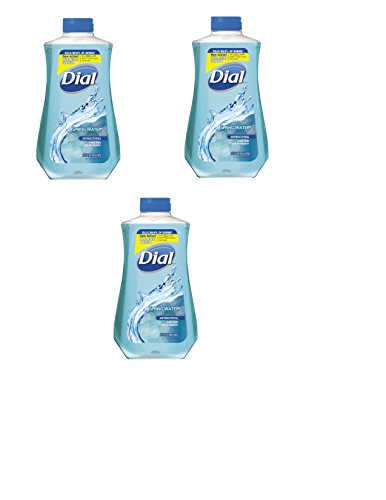 Dial Spring Water 32 Ounce Antibacterial Hand Soap With Moisturizer New Total Active Clean Formula 32Oz Refill  3 Pack
