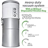 OVO Powerful Central Vacuum System - Heavy Duty Central Vac With Hybrid Filtration - 35L or 9.25Gal...