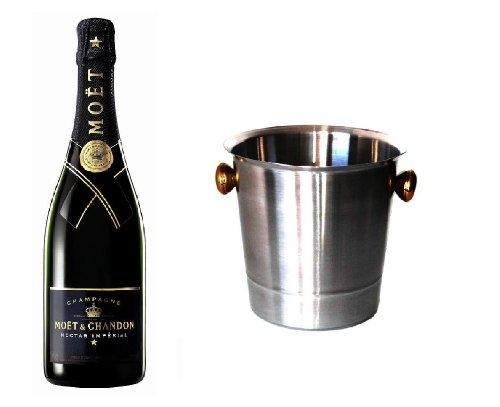 Moet & Chandon Champagner Nectar im Champagner Kühler 12% 0,75l Fl.