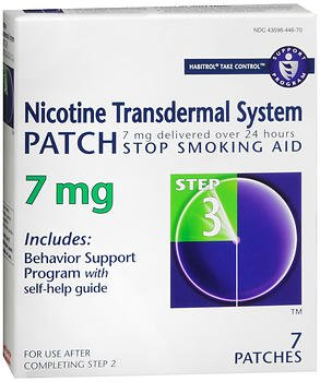 Habitrol Nicotine Transdermal System Patch 7 mg Step 3 - 7 ct, Pack of 6