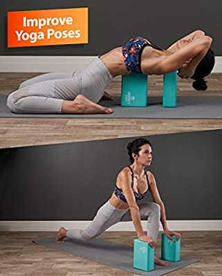 YunZyun Yoga Block High Density EVA Foam Block Workout Fitness and Gym Pilates D Light Weight and Non-Slip Surface,Odor Free Brick for Exercise