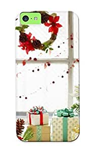 Christmas Gift - Tpu Case Cover For Iphone 5c Strong Protect Case - Merry Christmas Design