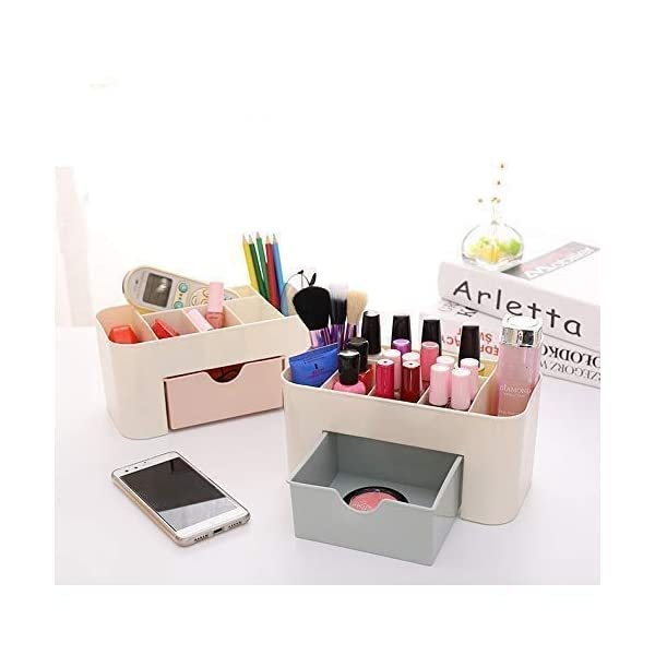 ABTRIX WITH AB Office Desk Organizer. Pen & Pencil Holder. Markers, Stationery Caddies for Office/Teacher Supplies Caddy Organizer with Drawer for Desktops 5