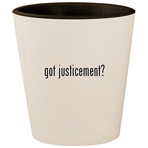 (got justicement? - White Outer & Black Inner Ceramic 1.5oz Shot Glass)