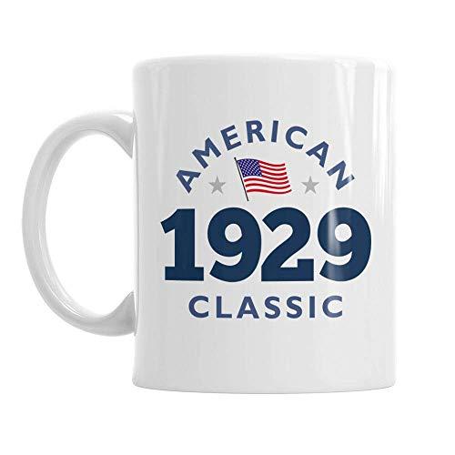 90th Birthday Vintage 1929 Gift Mug Present for 90 Men Women 10oz Coffee Mug]()