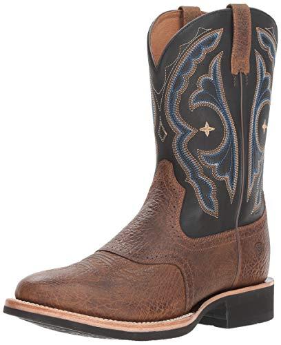 Ariat Men's Quantum Crepe Western Boot, Earth/Tack Room Black, 8.5 D US