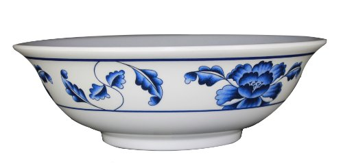 Large 57 Ounce Oriental Style Pho Noodle Soup Bowl – Restaurant Quality – Made of Durable Melamine – Lotus Design – Pho size: Large – Dishwasher Safe, Appliances for Home