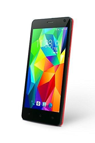 SLIDE Dual SIM 5 Android 6.0 Unlocked Smartphone, Quad Core 1.3GHz Processor, 8GB Internal Storage, 1GB RAM, 8MP Camera, Nationwide 3G GSM Coverage- Red (SP5023)