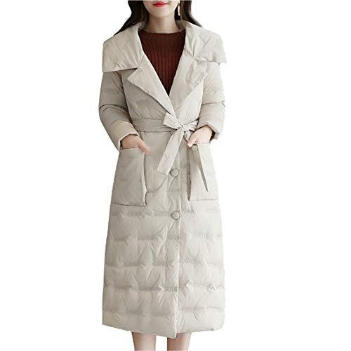 Lqyrf hiver longue couette mince revers section beige de mode simple grande taille dames 4HUFrqw4