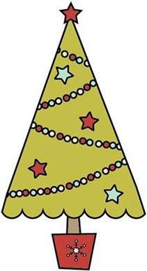 (Christmas Tree Santas Little Helper Snag 'Em Stamp (Imaginisce))