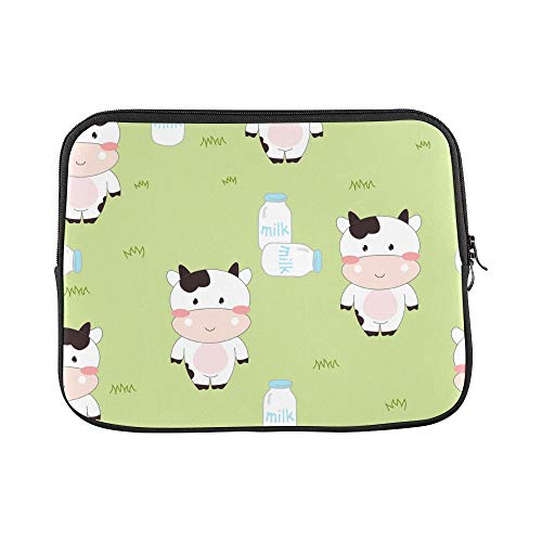 Design Custom Cow Bottle Leopard Spot Spot Sleeve Soft Laptop Case Bag Pouch Skin for MacBook Air 11