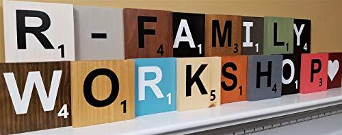 Wood Scrabble Letter Tiles Large 5.5