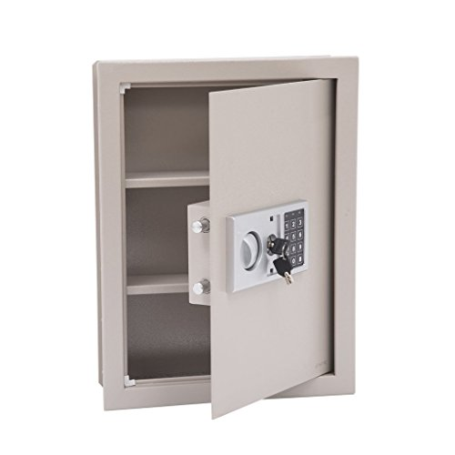 Tenive Digital Electronic Flat Recessed Hidden Wall Safe Security Box-19
