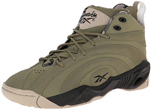 Reebok Mens Shaqnosis Og Basketball Shoe Cargo Verde / Nero / Kaki / Foresta