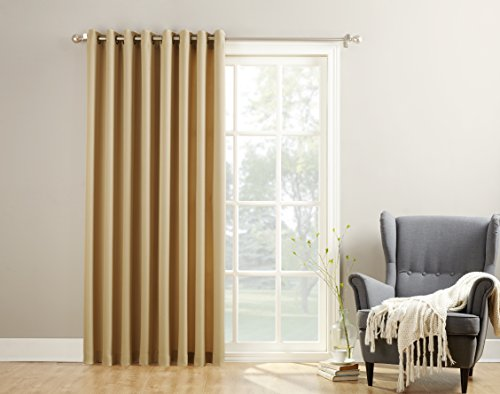 No. 918 Montego Casual Textured Patio Door Curtain Panel, 100