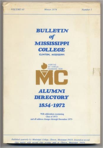 Mississippi College Alumni Directory 1854-1972: Not Listed