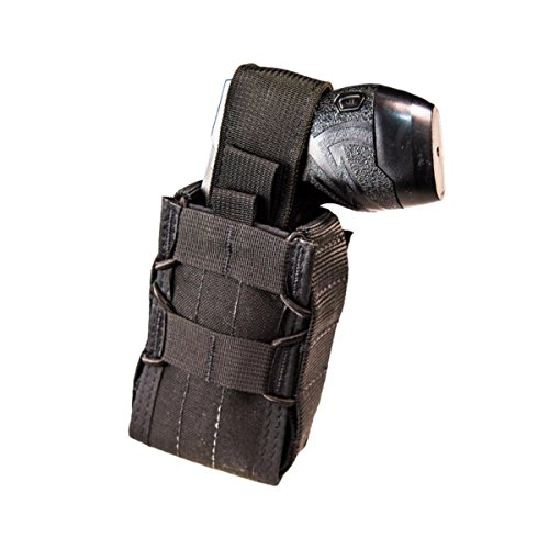 (High Speed Gear Stun Gun TACO MOLLE Pouch/Holster, Holds X26 and X2 - Black)