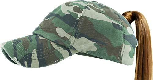 - KBETHOS PONY-001 CAM Ponytail Messy High Bun Headwear Adjustable Cotton Trucker Mesh Hat Baseball Cap