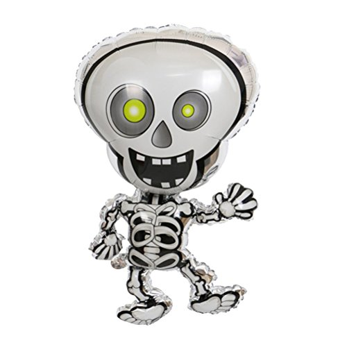 (AMOSFUN Halloween Foil Balloons Atmosphere Decoration Dancing Skeletons)