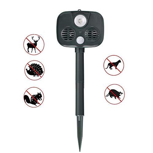 ZUZEN Solar Power Ultrasonic Bird Repeller Drive Dog Cat Mouse Ultrasonic Pest Control Solar Insect Killer Garden LED Rat Repeller
