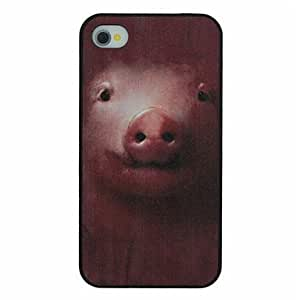 Cute Small Pig Pattern PC Hard Back Cover Case for iPhone 4/4S
