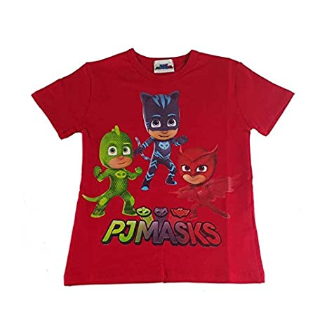 Pj Mask Maglietta Superpigiamini T Shirt Rossa Bambino Stampa