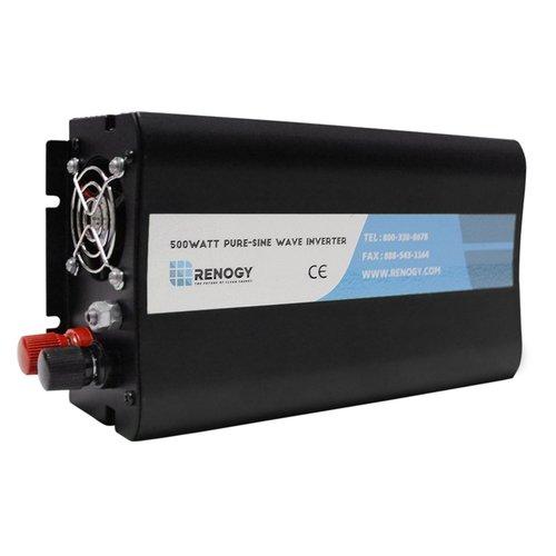 RENOGY 500W 純正弦波 インバーター DC12VをAC100Vに変換 USBポート付き 日本電圧向け B01H65E7T6   500W