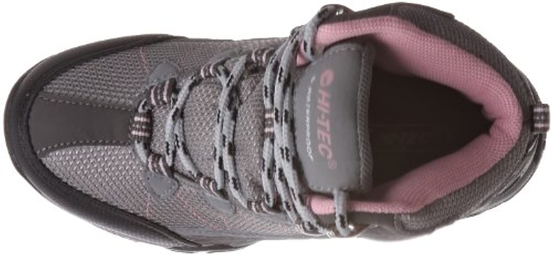 Hi-Tec Junior Kids' Tokyo Hiking Boots - Grey/ Pink, 3 UK